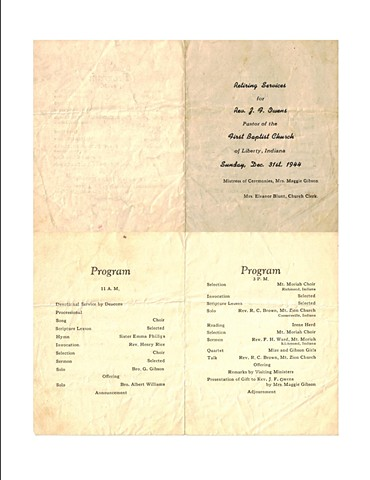 1944 Church Program