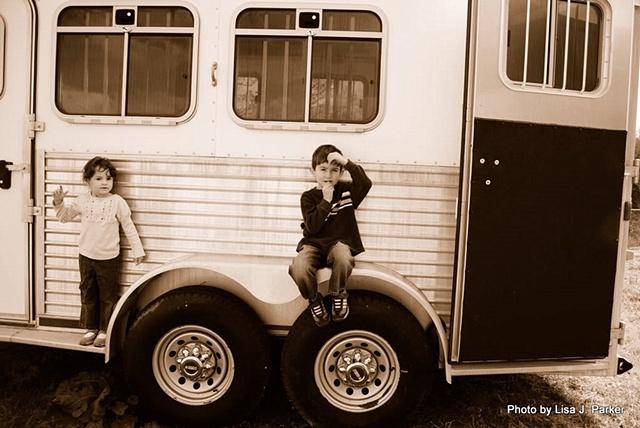 Kids on Horse Trailer - Farmville, VA