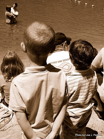 Boys Watching Baptism - Madison, VA
