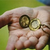 Grandma Holding Locket