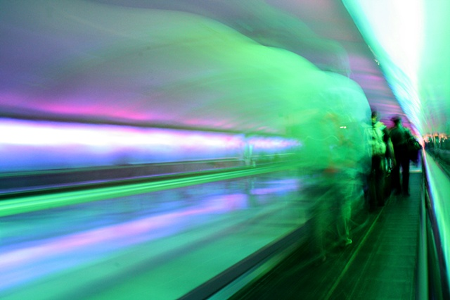 My camera decided to drop acid at the Detroit airport.