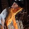 Keegan bustin through a steel pipe