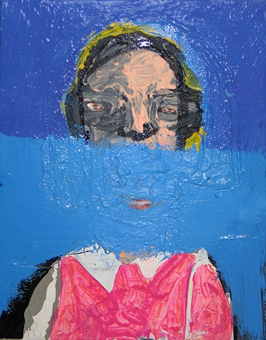Figure in  a pink blouse