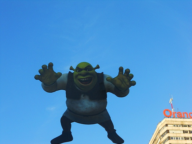 Shrek in Warsaw