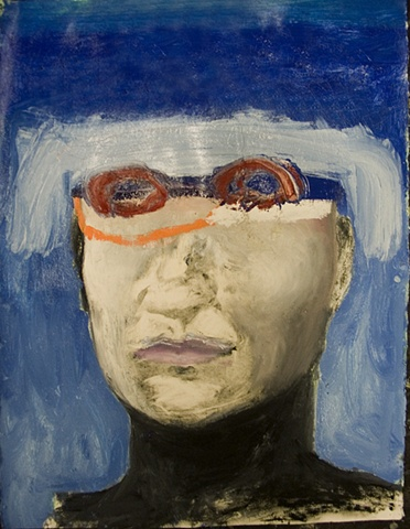 Untitled (wearing swim goggles)