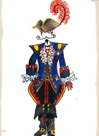 Justin and Friends Tour - Costume drawing