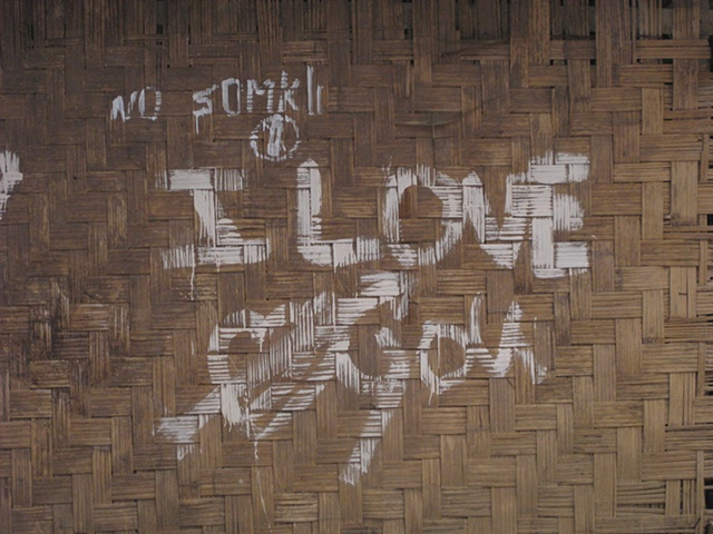 I Love You Toilet. Bus Station, Muang Khua, Laos