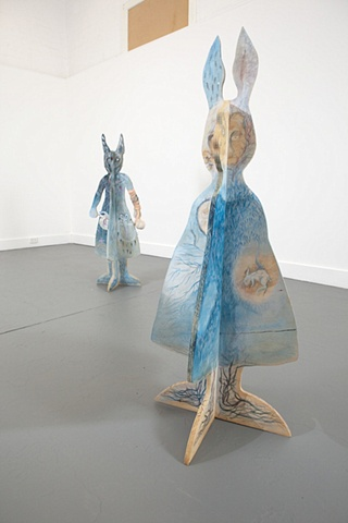 Hare, drawing, art, installation