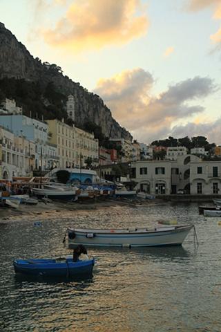 Boats Sunset Capri 2
