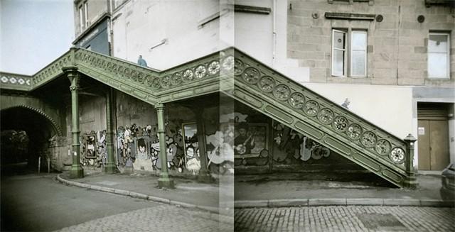 Glasgow. Hand coloured black and white print