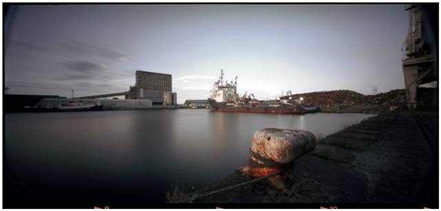 Edinburgh docks. Pinhole