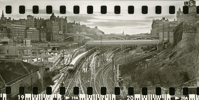Waverly Station, Edinburgh. Scotland. silver gelatine print