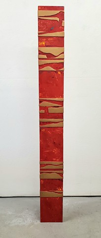 """Sunset Stele"" front view"