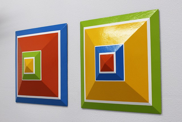 """Alber's Square Diptych"""