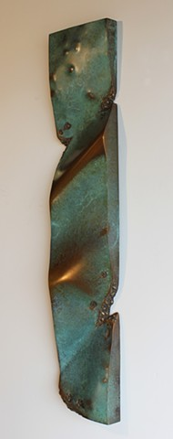 Bronze wall piece