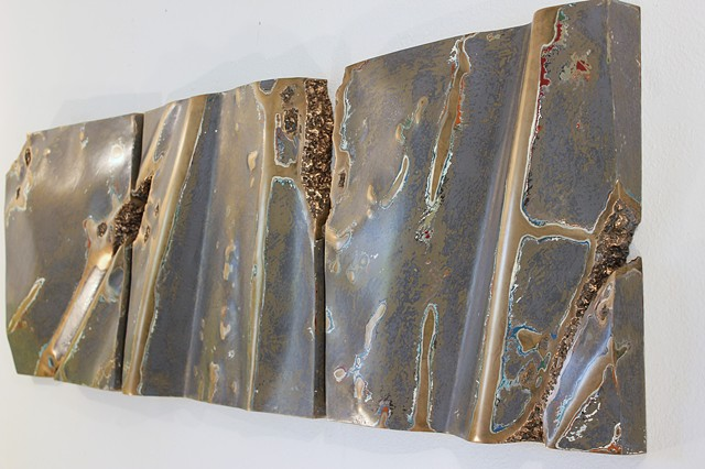Bronze sculpture, wall sculpture