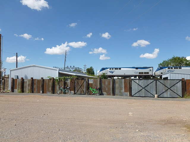 New Marfa studio with train