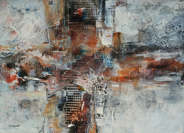 Fortitude is an abstract acrylic painting on paper by Florida artist Jim Carpenter