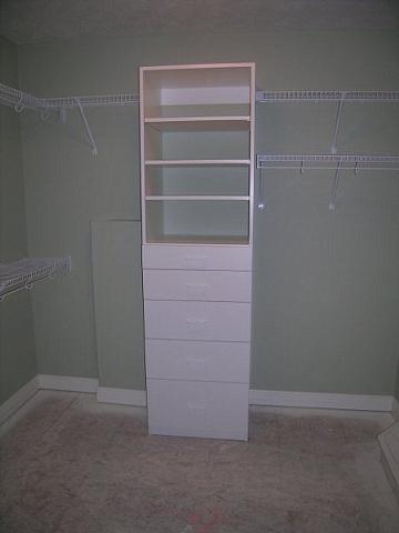 5 drawer white melamine cabinet