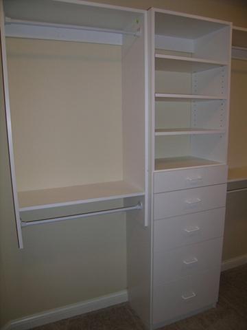White melamine cabinetry
