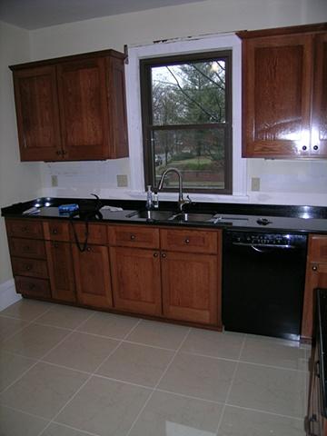 White Oak craftsman style kitchen cabinetry