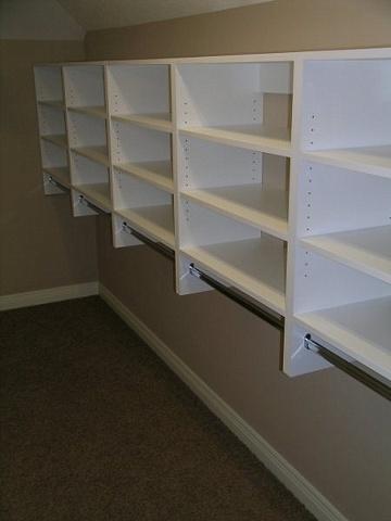 Short hang cabinetry