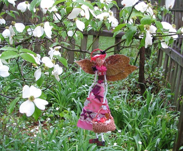 Fairy angel made with recycled materials