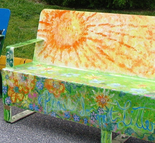 Art on the Bench  invitational and installed at Union Square Hickory NC