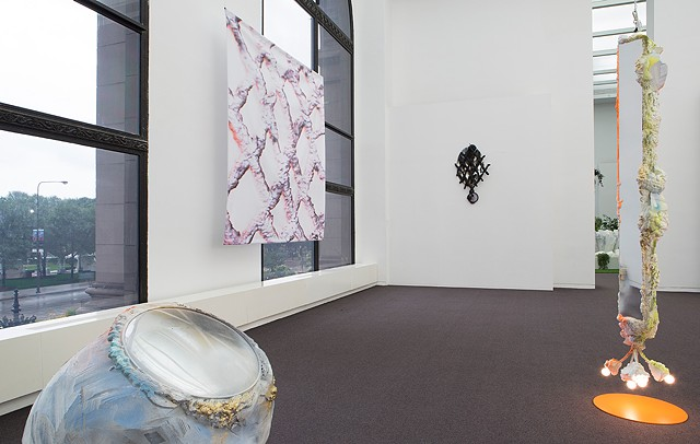 "Installation view ""pink melon joy (inferno)"""