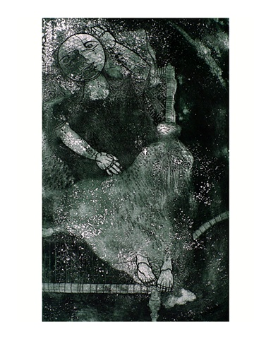 Afshar Malik The Last Dream   Etching