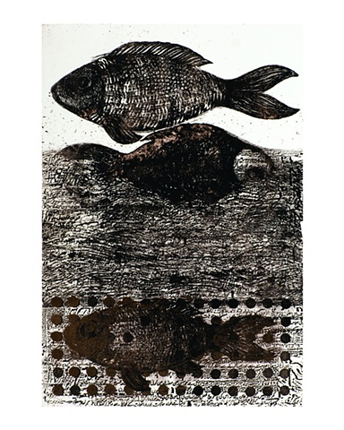 Usman Ghori Floated		 Photo - Etching & Silk Screen