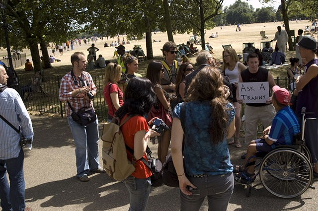 Ask A Tranny at Hyde Park in London, UK