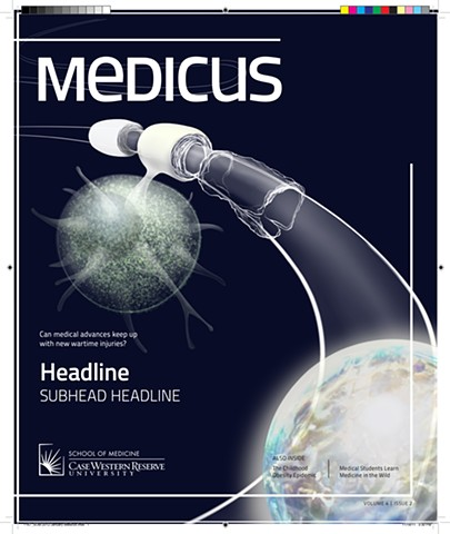 magazine cover, MS research, stem cell research, biotechnology, education, major university