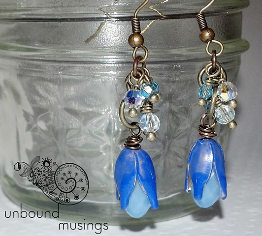 Periwinkle Swarovski Drop Earrings