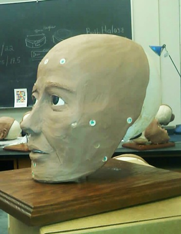 forensic reconstruction of the face, clay reconstruction