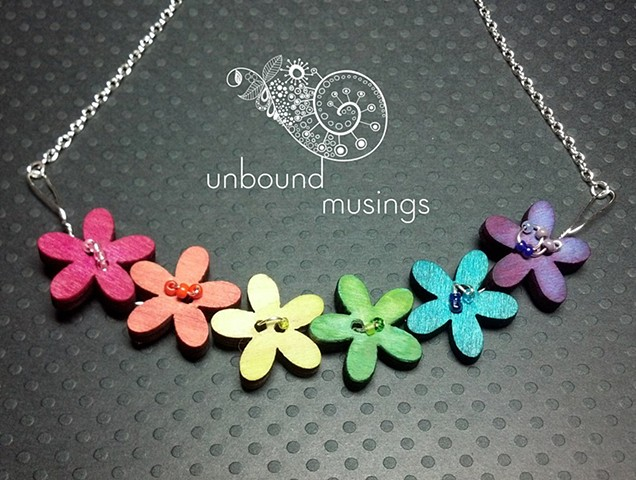 rainbow flowers, chain