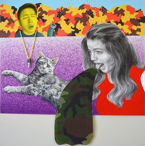 Yikui (Coy) Gu art painting artist drawing collage