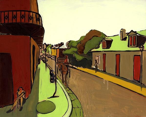 """Streetview"" Bourbon & St. Phillip"