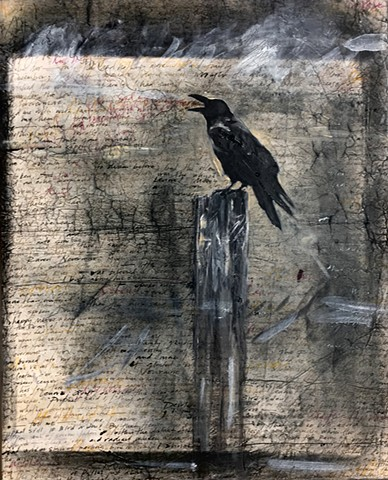 Nevermore painting (raven)