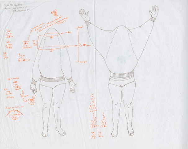 Headless Sweater - Knitting Schematics 1