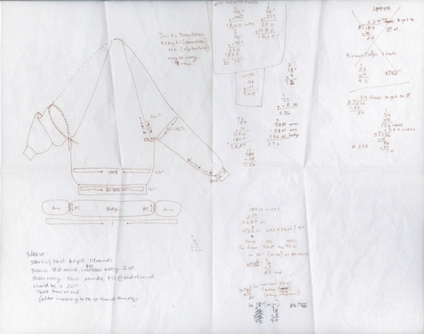 Headless Sweater - Knitting Schematics 2