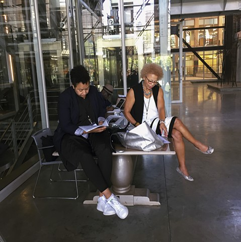 Veanie and Sandra before Registration - Black Portraitures III: Turbine Hall - Johannesburg
