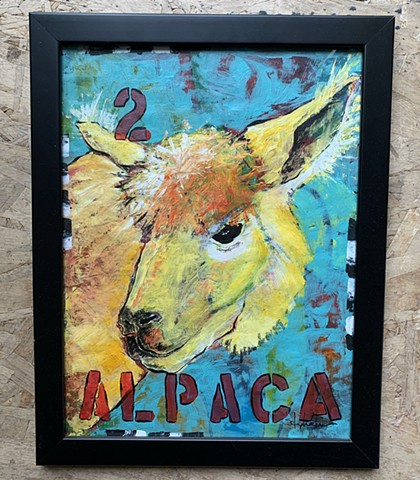 SOLD Alpaca (framed)
