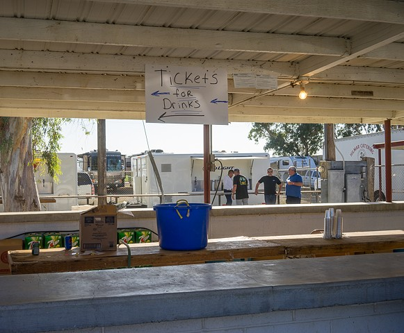 The bar at Bella Vista Park Arena before the bloodless bullfights