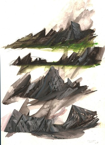 Into the Mountain (sketches for a colder World) 9/15