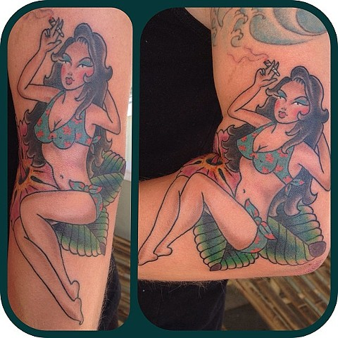 Pin-Up Girl tattoo - Lahaina, Maui