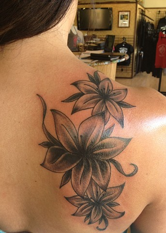 Flower cover-up tattoo - Lahaina, Maui