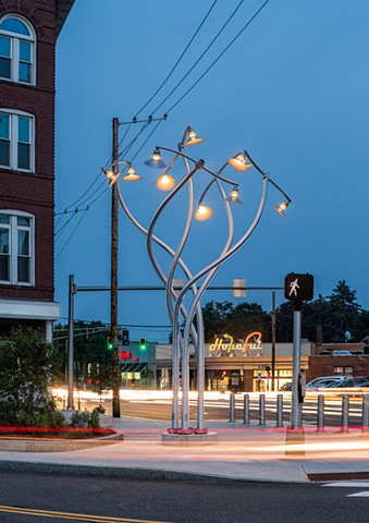 permanent installation at Woodfords Corner, Portland, ME