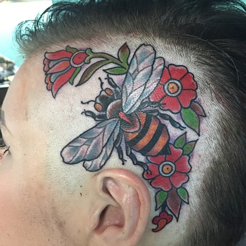 Bee With Flowers on Head