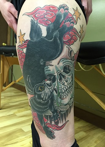 Black Rabbit and Skull